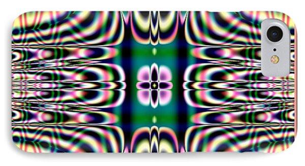 Shimmering Plaid Fractal 66 Phone Case by Rose Santuci-Sofranko