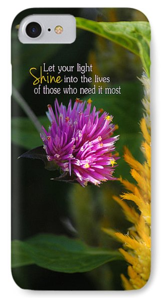 Shine Encouraging Pink And Yellow Flower Photograph Phone Case by Jai Johnson