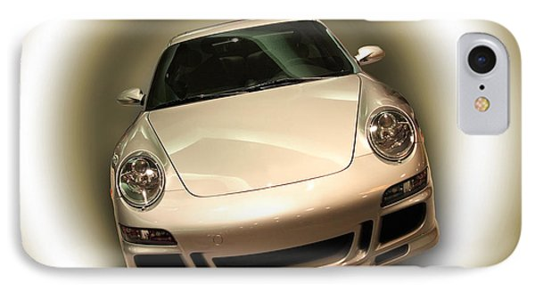 IPhone Case featuring the photograph Shiny New Car With Fancy Background by Cindy Haggerty