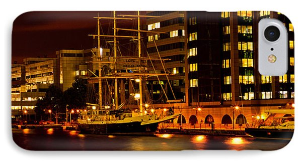 Ship In Dock IPhone Case by Dawn OConnor