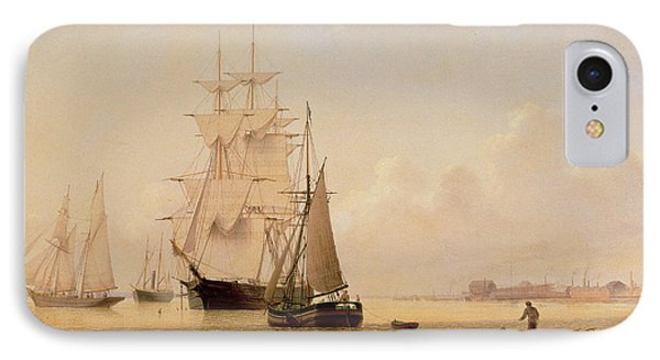Ship Painting IPhone Case by WF Settle