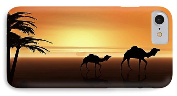 Ships Of The Desert IPhone Case by David Dehner