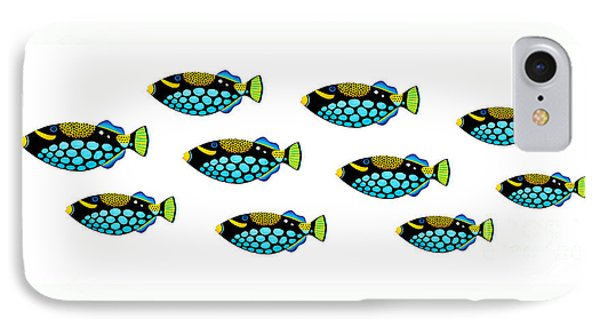 Shoal Of Clown Triggerfish  Phone Case by Opas Chotiphantawanon