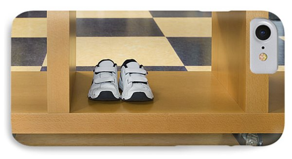 Shoes In A Shelving Unit Phone Case by Andersen Ross