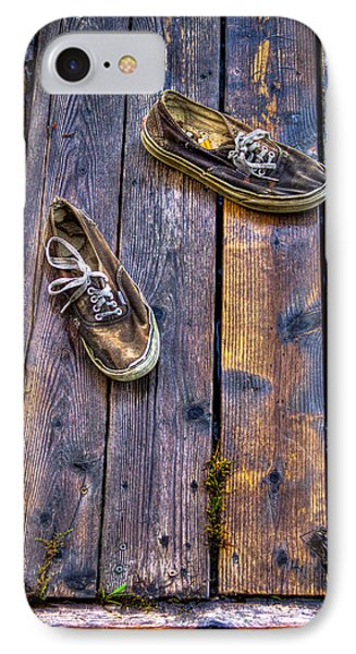 Shoes On The Dock IPhone Case by David Patterson