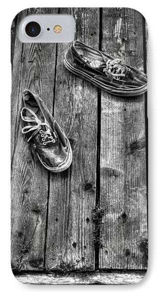 Shoes On The Dock II IPhone Case by David Patterson