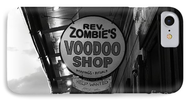 Shop Signs French Quarter New Orleans Black And White IPhone Case