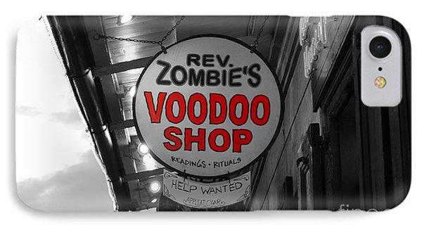 Shop Signs French Quarter New Orleans Color Splash Black And White IPhone Case