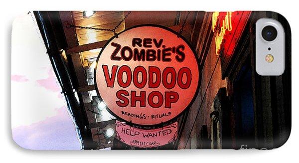 Shop Signs French Quarter New Orleans Fresco Digital Art IPhone Case