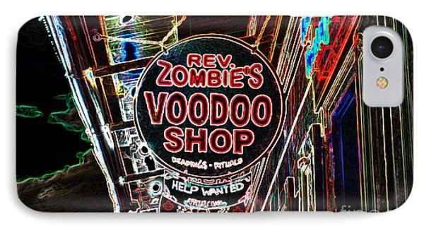 Shop Signs French Quarter New Orleans Glowing Edges Digital Art IPhone Case