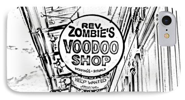 Shop Signs French Quarter New Orleans Photocopy Digital Art Phone Case by Shawn O'Brien