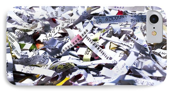 Shredded Documents Phone Case by Kevin Curtis
