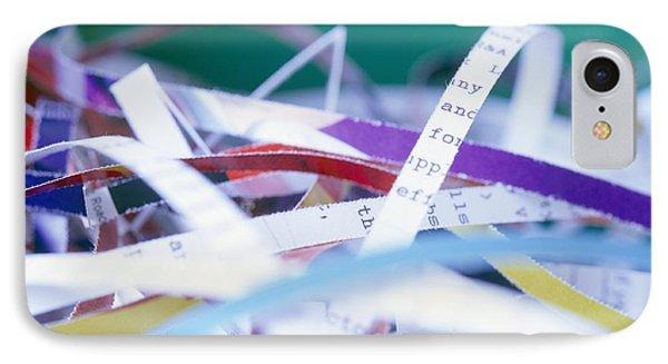 Shredded Paper Phone Case by Martin Bond