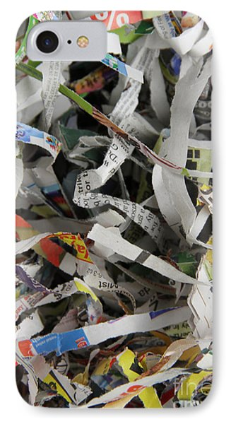 Shredded Paper Phone Case by Photo Researchers, Inc.