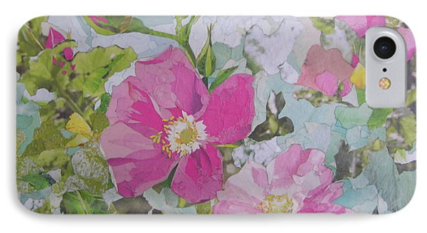 Shrub Roses IPhone Case by Robin Birrell