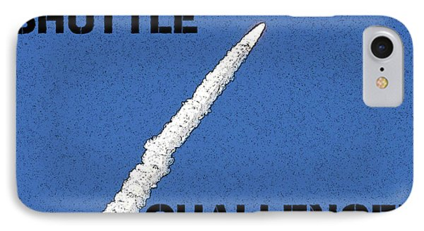 Shuttle Challenger  Phone Case by David Lee Thompson