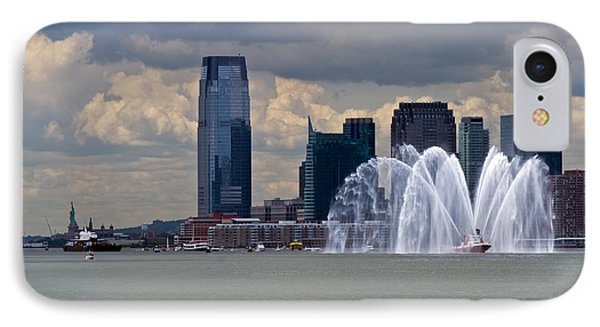 Shuttle Enterprise And Fire Boat Phone Case by Gary Eason