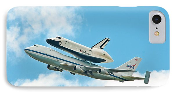 Shuttle Enterprise Comes To Ny Phone Case by Regina Geoghan