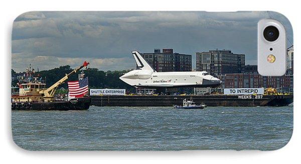Shuttle Enterprise Flag Escort Phone Case by Gary Eason