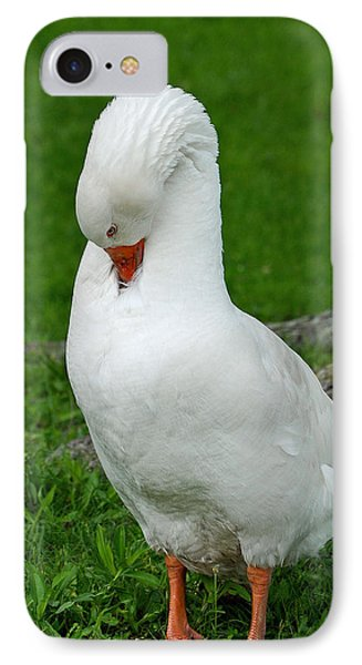 IPhone Case featuring the photograph Shy Goose by Lisa Phillips