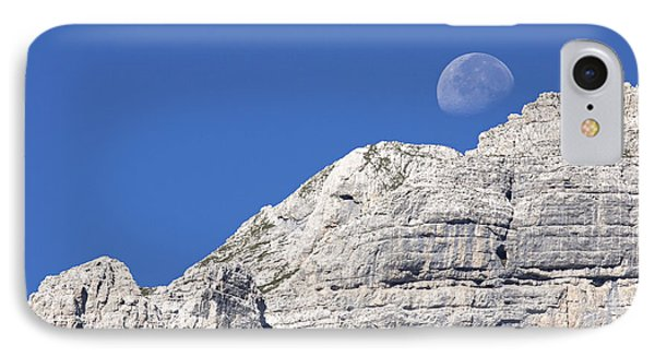 IPhone Case featuring the photograph Shy Moon by Raffaella Lunelli