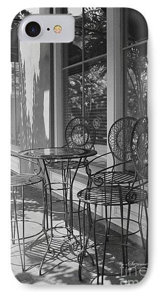 Sidewalk Cafe - Afternoon Shadows Phone Case by Suzanne Gaff