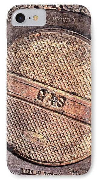IPhone Case featuring the photograph Sidewalk Gas Cover by Bill Owen