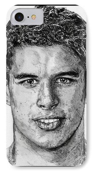 Sidney Crosby In 2007 Phone Case by J McCombie