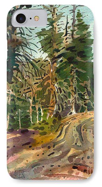 IPhone Case featuring the painting Sierra Treeline by Donald Maier