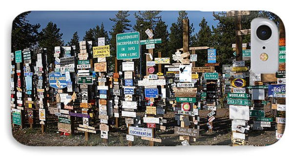 Sign Posts Forest In Watson Lake Yukon IPhone Case by Mark Duffy