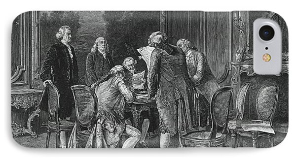 Signing Treaty Of Peace, 1782 IPhone Case