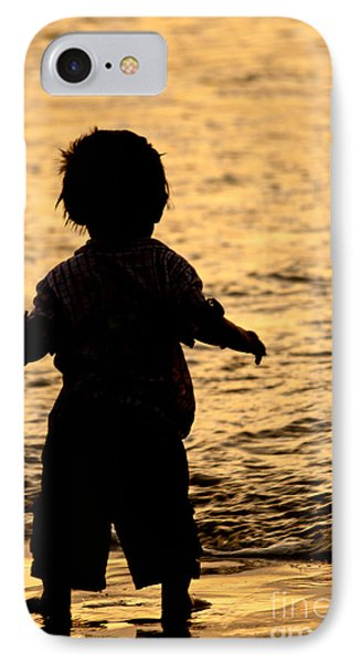 Silhouette Of A Child 1 Phone Case by Carole Lloyd