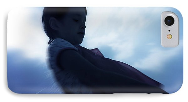 Silhouette Of A Girl Against The Sky Phone Case by Joana Kruse