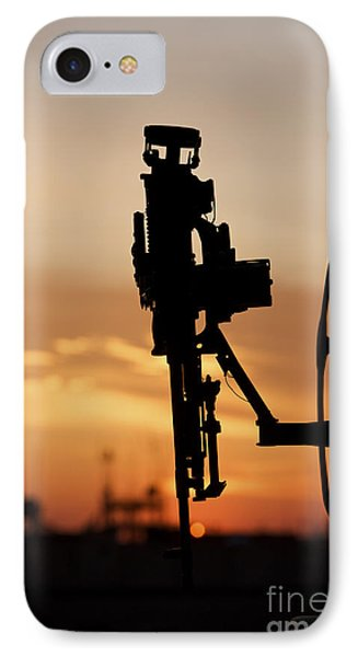 Silhouette Of A M240g Medium Machine Phone Case by Terry Moore
