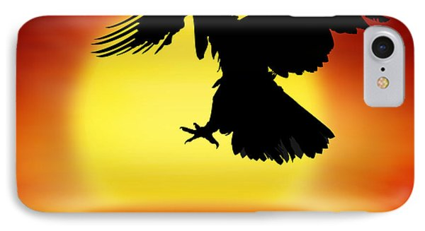 Silhouette Of Eagle IPhone Case