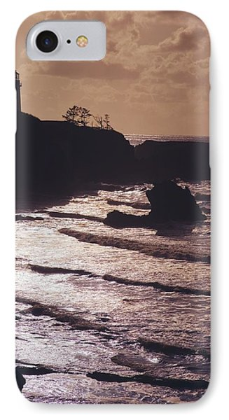 Silhouette Of Lighthouse Phone Case by Craig Tuttle