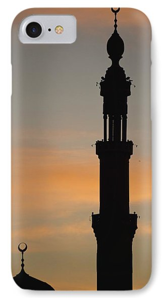 Silhouette Of Mosque At Dawn Phone Case by Axiom Photographic