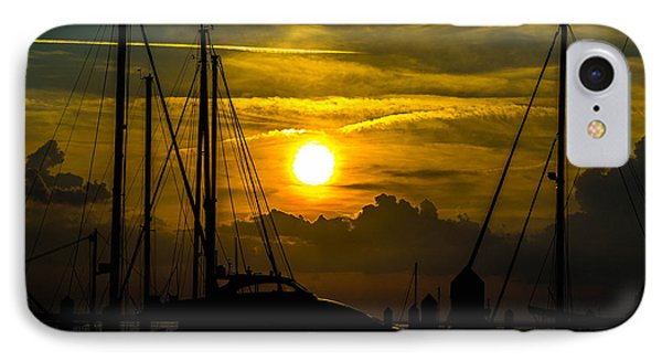Silhouettes At The Marina IPhone Case by Shannon Harrington
