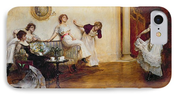 Silks And Satins IPhone Case by Albert Chevallier Tayler