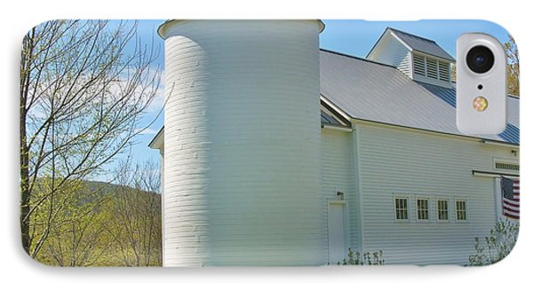 IPhone Case featuring the photograph Vermont Silo And Barn  by Sherman Perry