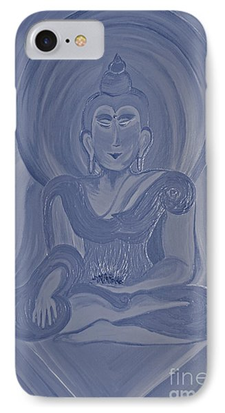 Silver Buddha Phone Case by First Star Art