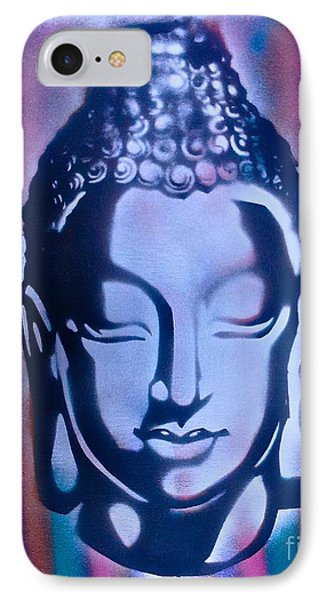 Silver Buddha Phone Case by Tony B Conscious