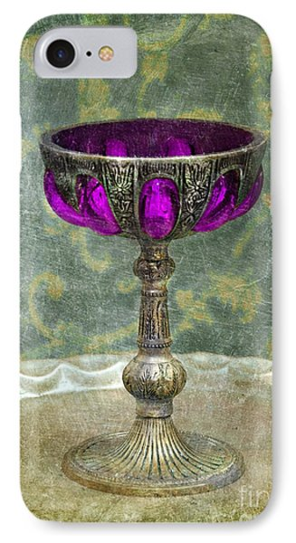 Silver Chalice With Jewels Phone Case by Jill Battaglia