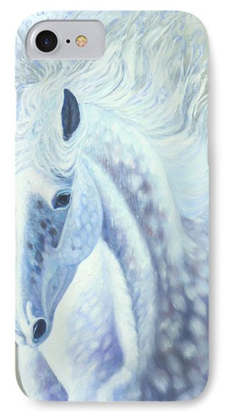 Silver Mare Phone Case by Gill Bustamante