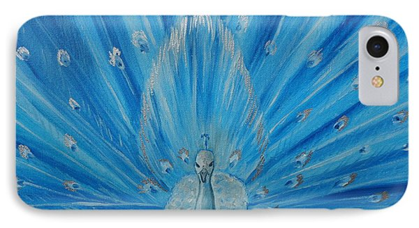 Silver Peacock Phone Case by Julie Brugh Riffey