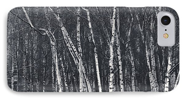 Silver Trees IPhone Case by Lenny Carter