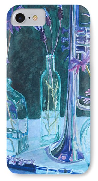 Silvery Night Music Phone Case by Jenny Armitage