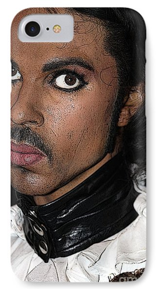 Singer Prince Cartoon Phone Case by Sophie Vigneault