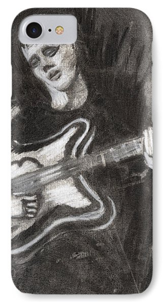 IPhone Case featuring the drawing Singing Sad Songs by Denny Morreale