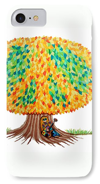 Singing Under The Peace Tree Phone Case by Nick Gustafson
